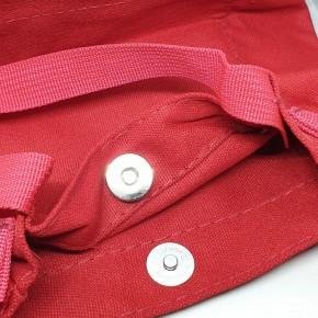 حقيبة قماش نسائي مني احمر